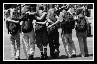 friends teens-bw.framed